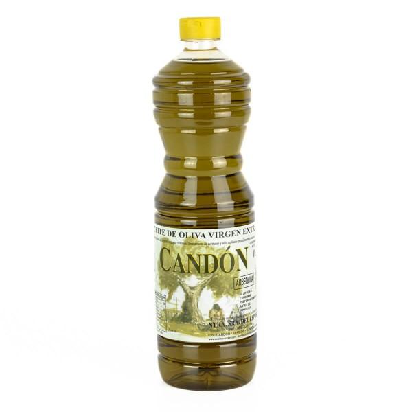 Botella 1 litro Arbequina de Aceite de Oliva Virgen Extra
